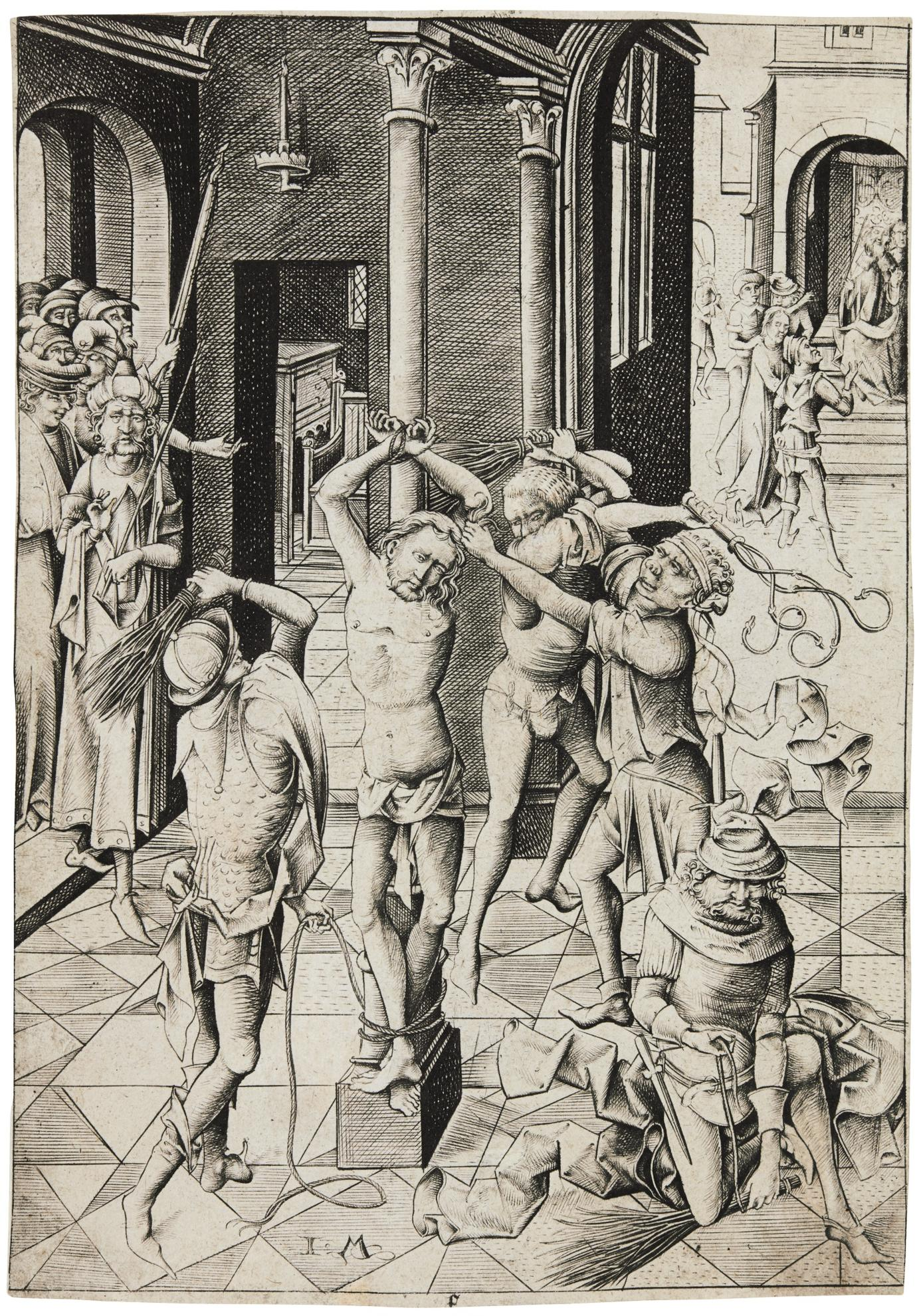 Israhel Van Meckenem - The Flagellation (G. 73; L., Holl. 145)-1485