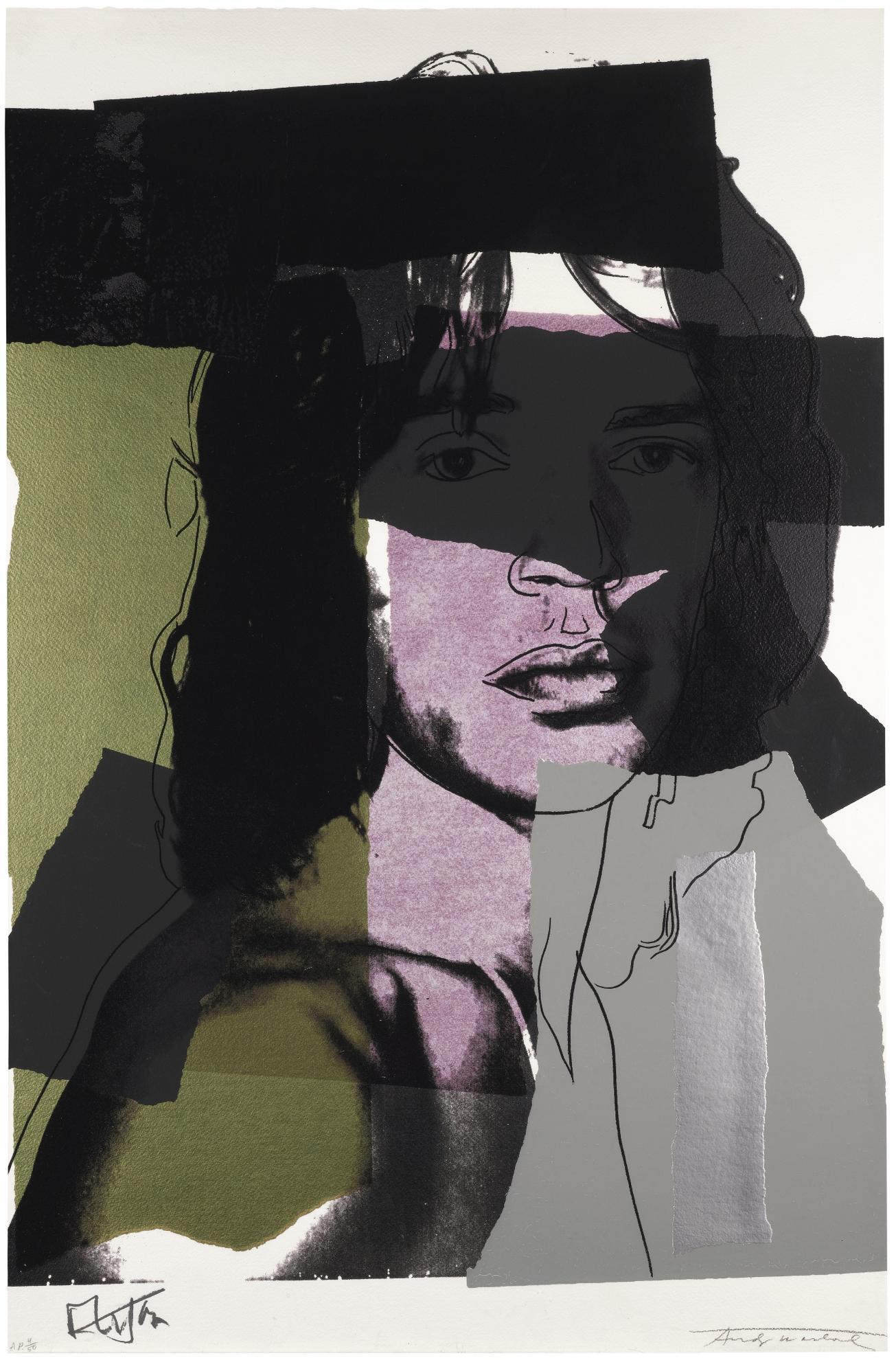 Andy Warhol-Mick Jagger (F. & S. II.145)-1975