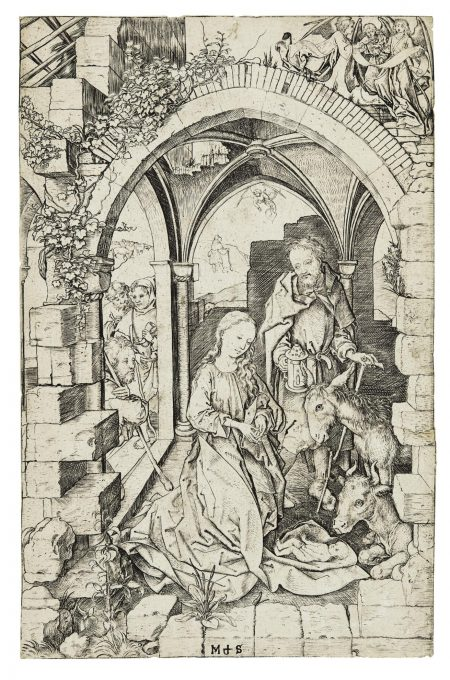 Martin Schongauer-The Nativity (B. 4; L., Holl. 5)-1473