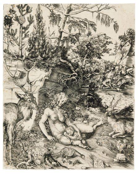 Lucas Cranach The Elder-The Penance Of Saint John Chrysostom (Bartsch, Hollstein 1)-1509