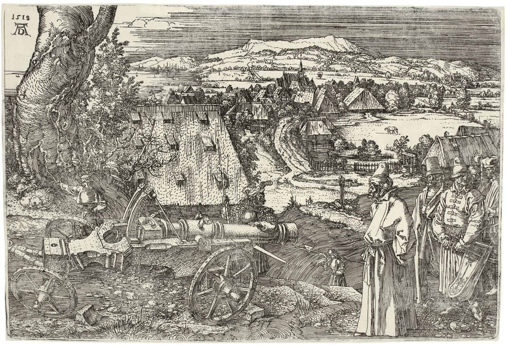 Albrecht Durer-The Landscape With The Cannon (B. 99; M., Holl 96)-1518