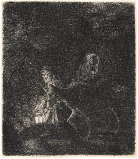 Rembrandt van Rijn-The Flight Into Egypt: A Night Piece (B., Holl. 53; New Holl. 262; H. 253)-1651