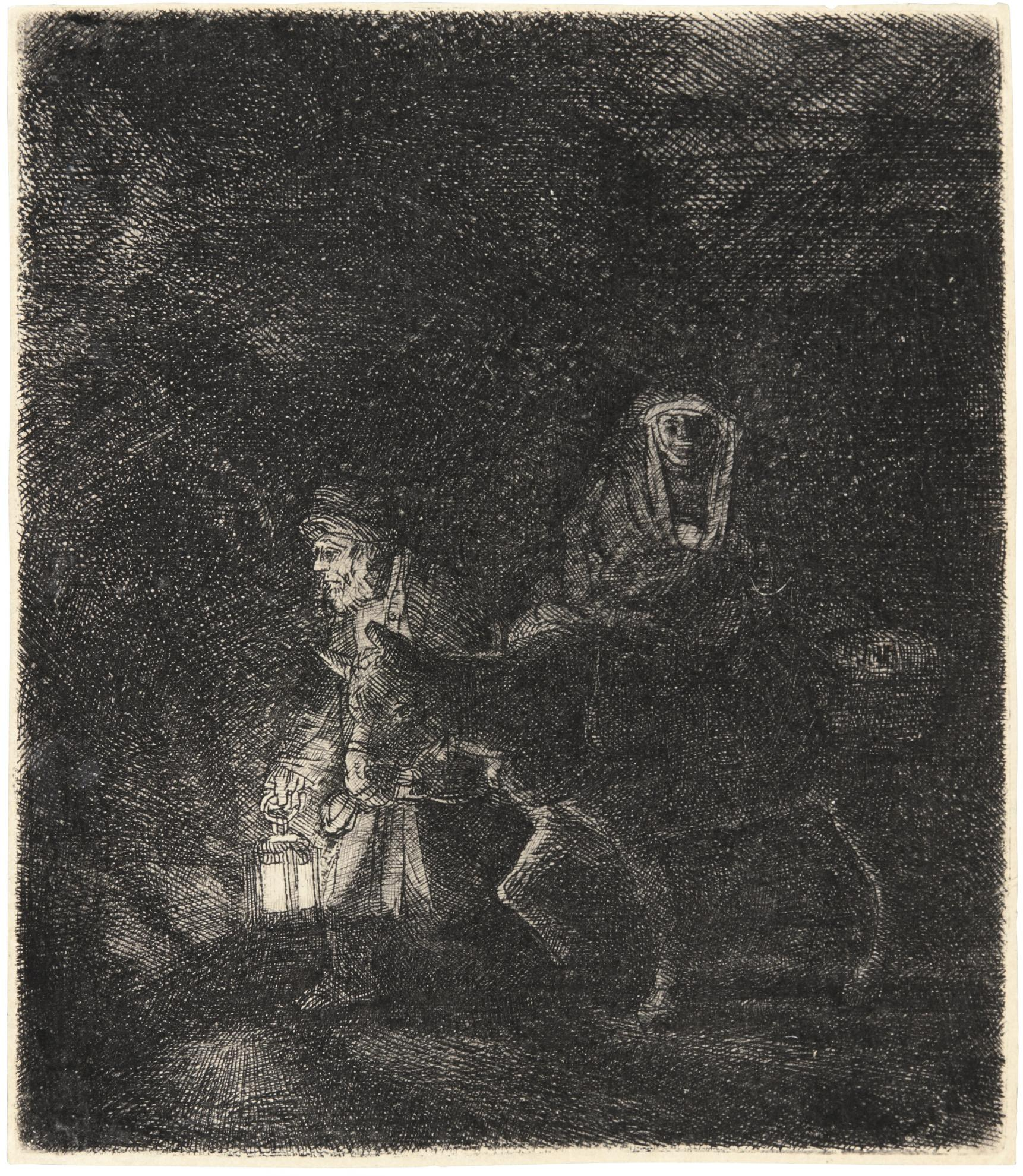 Rembrandt van Rijn-The Flight Into Egypt: A Night Piece (B., Holl. 53; New Holl. 262; H. 253)-1651