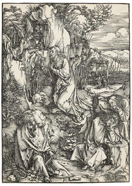 Albrecht Durer-Christ On The Mount Of Olives (B. 6; M., Holl. 115)-1500