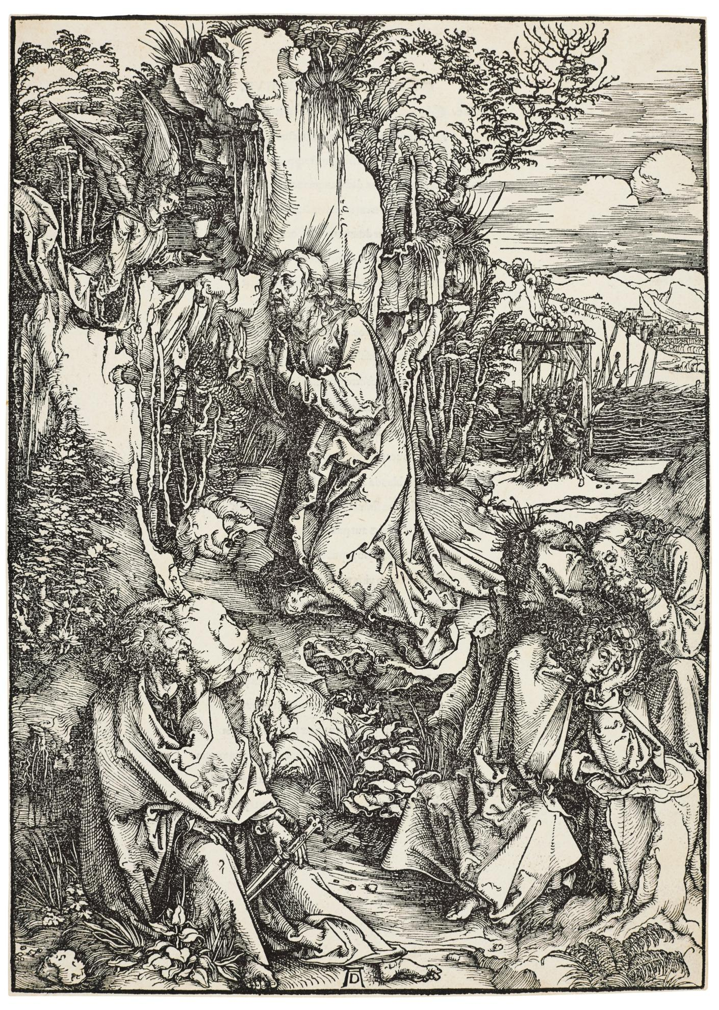 Albrecht Durer-Christ On The Mount Of Olives (B. 6; M., Holl. 115)-1500