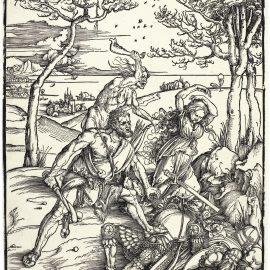 Albrecht Durer-Hercules Conquering Cacus (B. 127; M., Holl. 238)-1496