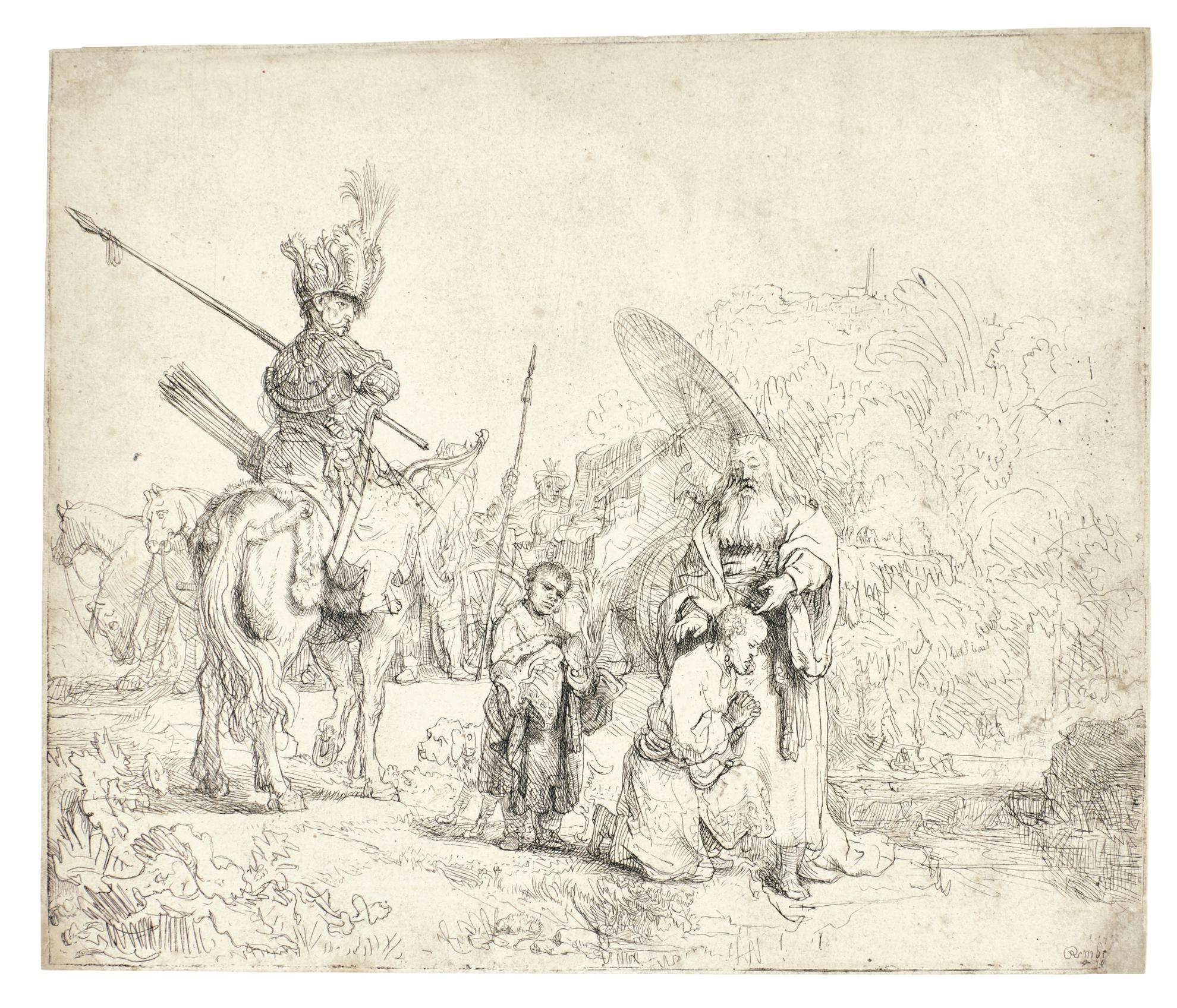 Rembrandt van Rijn-The Baptism Of The Eunuch (B., Holl. 98; New Holl. 186; H. 182)-1641