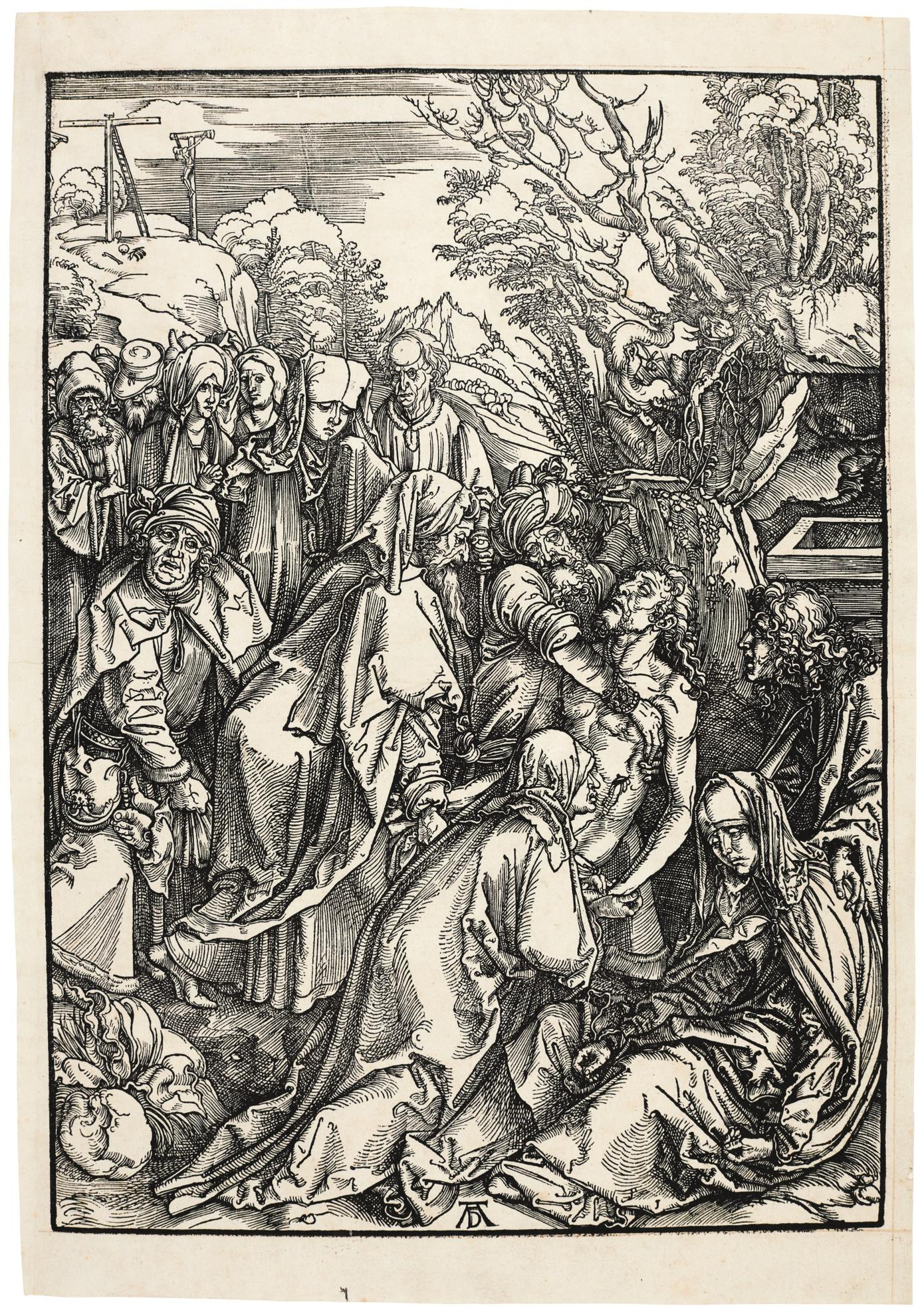 Albrecht Durer-The Deposition (B. 12; M., Holl. 123)-1497