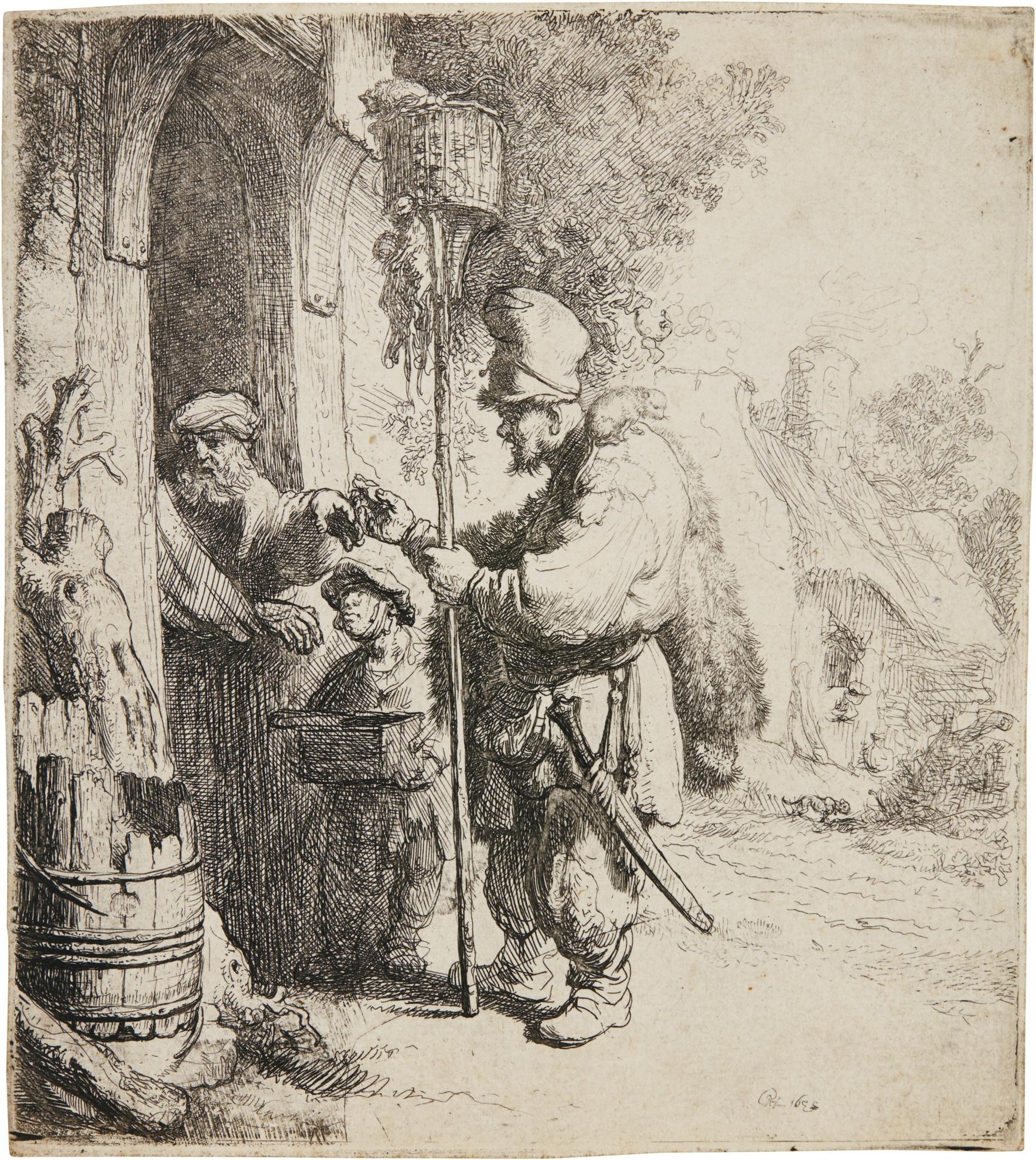 Rembrandt van Rijn-The Rat Catcher (B., Holl. 121; New Holl. 111; H. 97)-1632