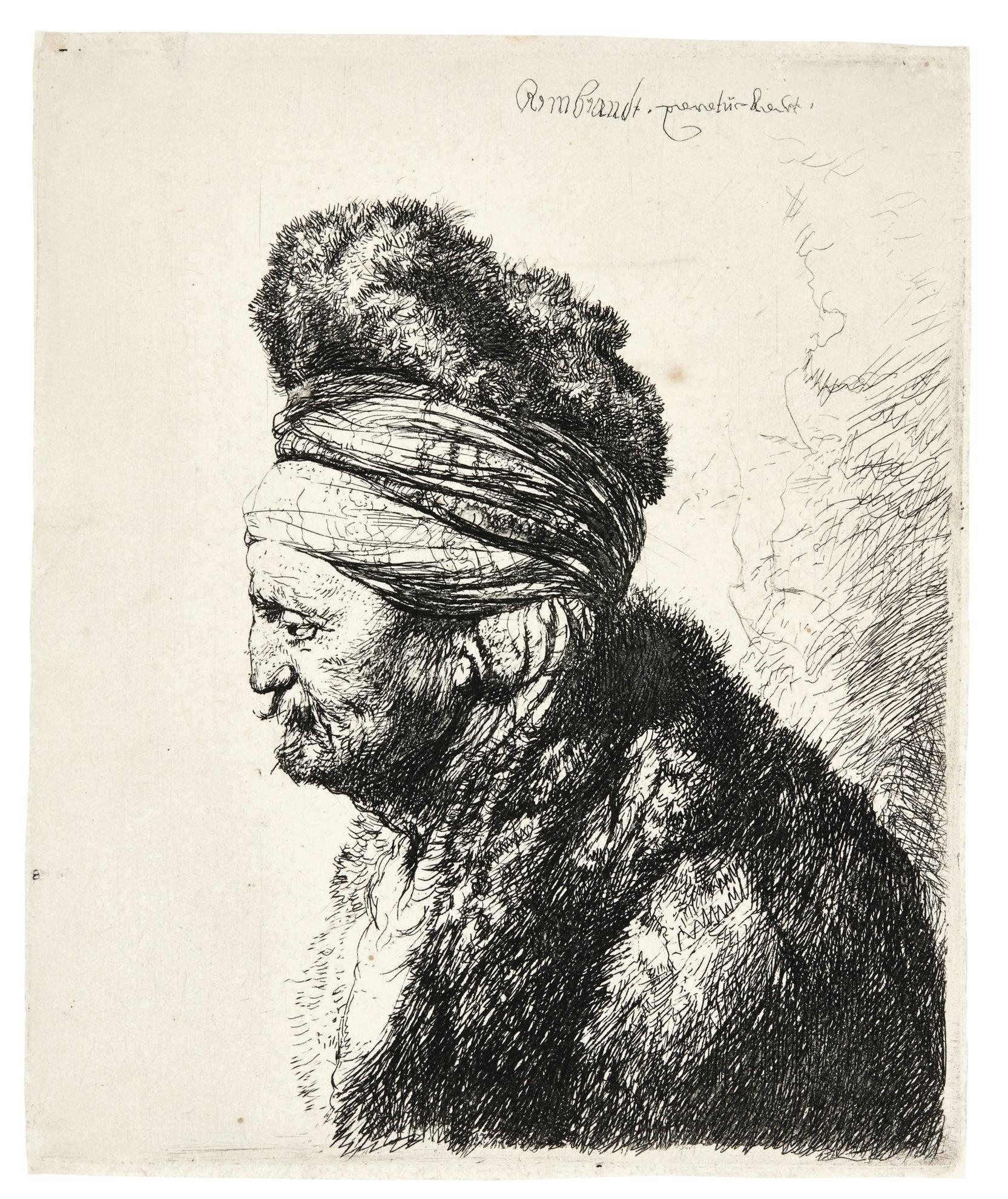 Rembrandt van Rijn-The Second Oriental Head (B., Holl. 287; New Holl. 150; H. 132)-1635