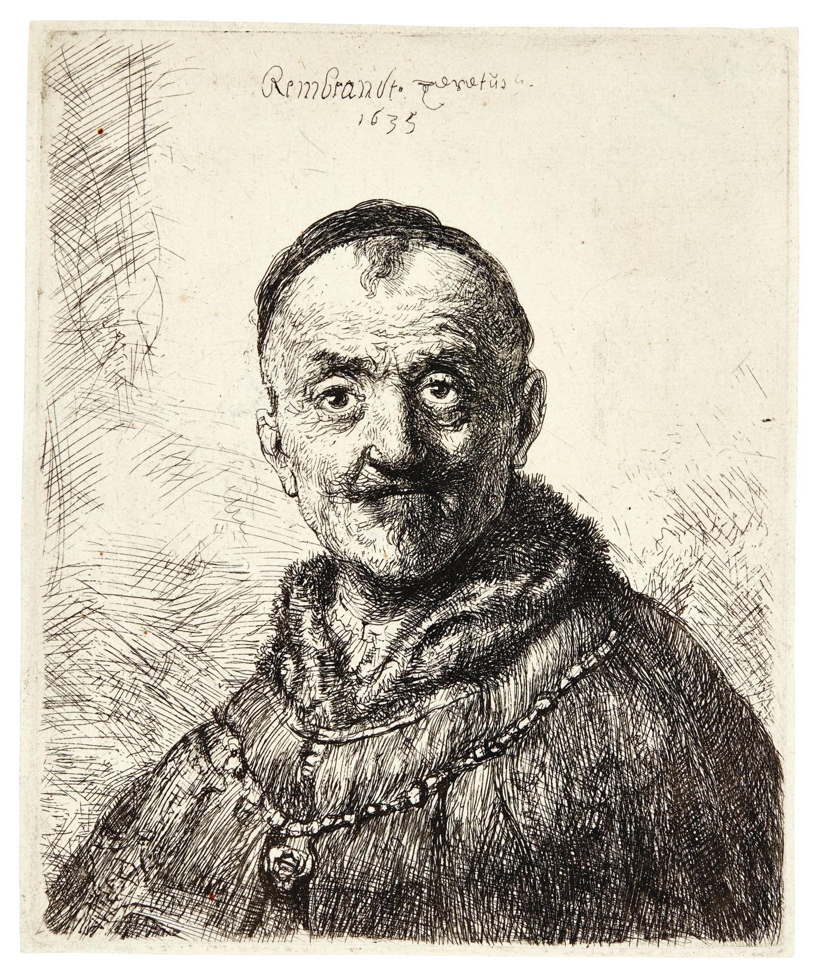 Rembrandt van Rijn-The First Oriental Head (B., Holl. 286; New Holl. 149; H. 131)-1635