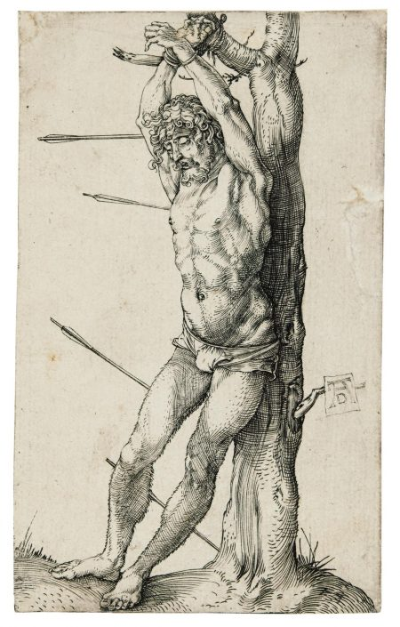 Albrecht Durer-Saint Sebastian Bound To The Tree; The Holy Family With The Three Hares; And The Martyrdom Of Saint Catherine (B. 55, 102, 120; M., Holl. 62, 212, 236)-1501