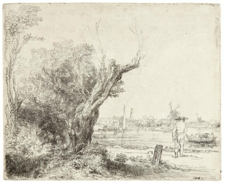 Rembrandt van Rijn-The Omval (B., Holl. 209; New Holl. 221; H. 210)-1645