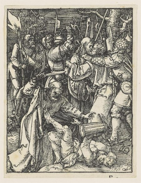 Albrecht Durer-The Betrayal Of Christ & Christ Before Caiaphas, From: The Small Passion-1509