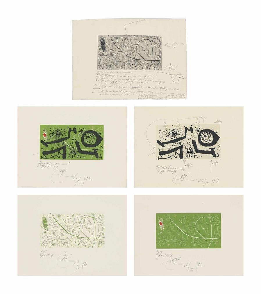 Joan Miro-Picasso I Els Reventos-1973