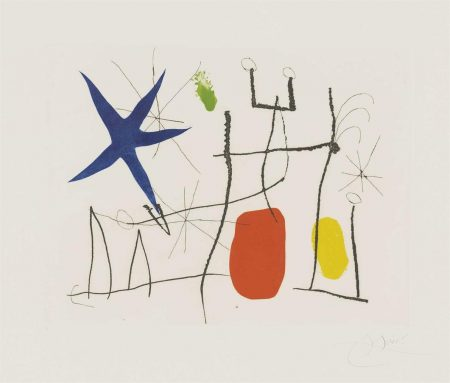 Joan Miro-Plate 9 From: Cantic Del Sol-1975