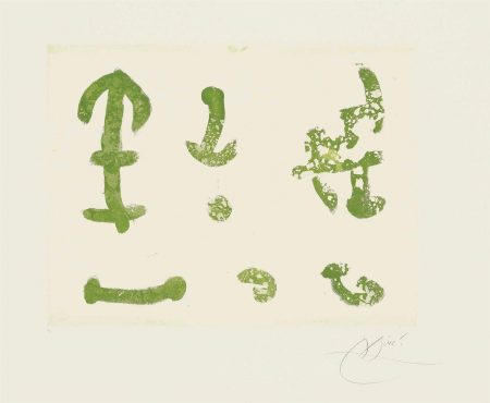 Joan Miro-Plate 31 From: Cantic Del Sol-1975