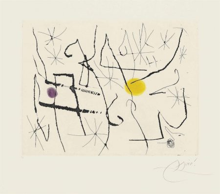 Joan Miro-Plate 11 From: Cantic Del Sol-1975