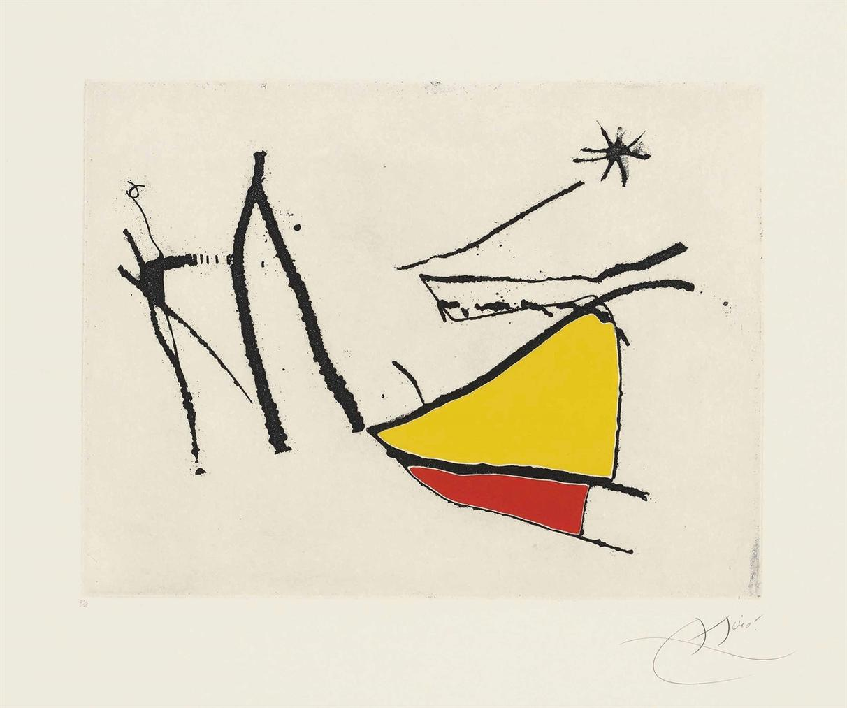 Joan Miro-Plate 28 From: Cantic Del Sol-1975