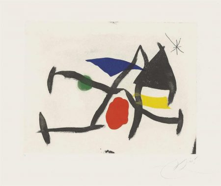 Joan Miro-Plate 8 From: Cantic Del Sol-1975