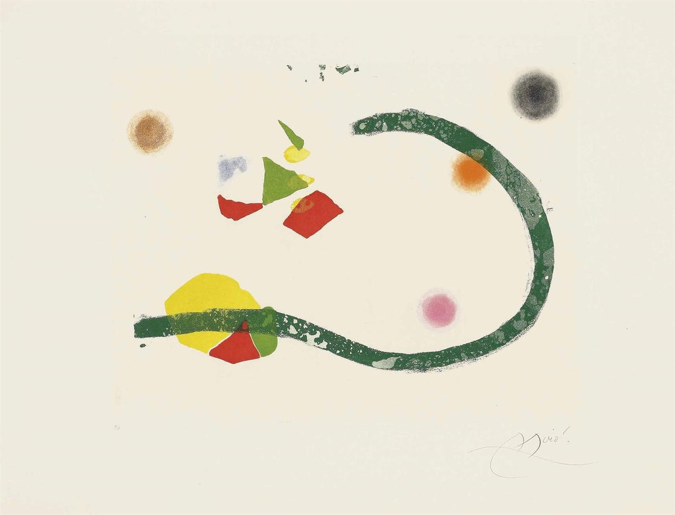Joan Miro-Plate 30 From: Cantic Del Sol-1975