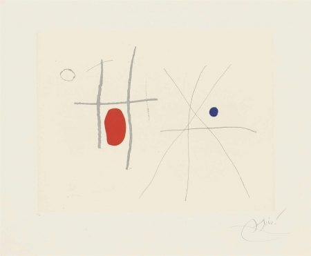Joan Miro-Plate 33 From: Cantic Del Sol-1975