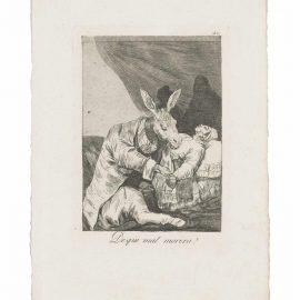 Francisco de Goya-De Que Mal Morira? (Of What Ill Will He Die?), From: Los Caprichos-1799