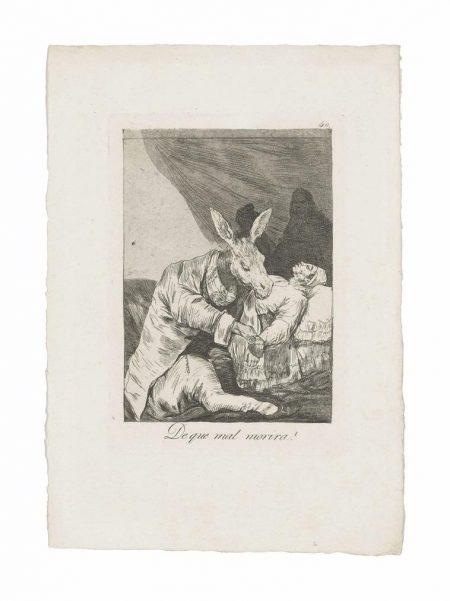 Francisco Jose de Goya y Lucientes - De Que Mal Morira? (Of What Ill Will He Die?), From: Los Caprichos-1799