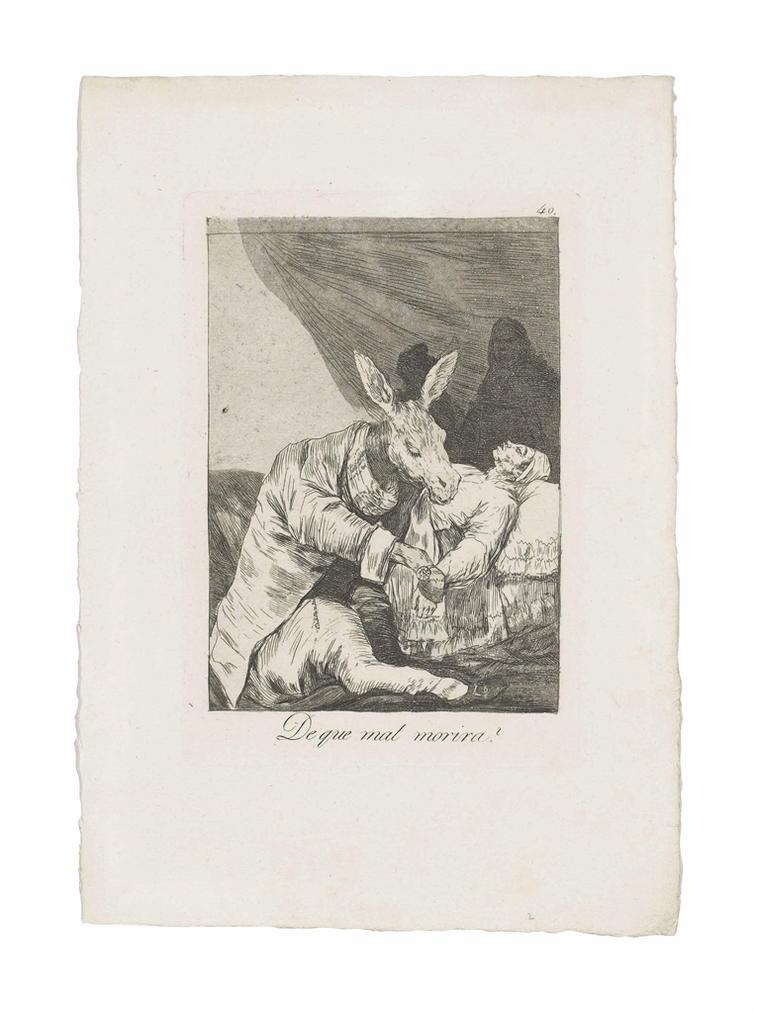 Francisco de Goya-De Que Mal Morira? (Of What Ill Will He Die?), From: Los Caprichos-1799