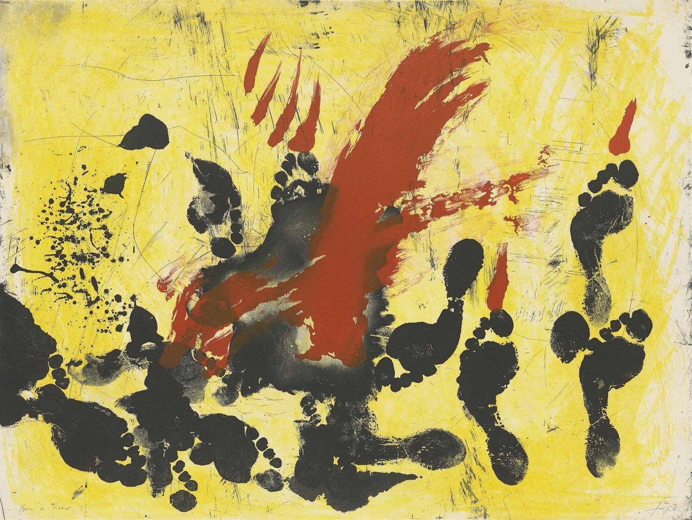 Antoni Tapies-La Taca Vermella-1972