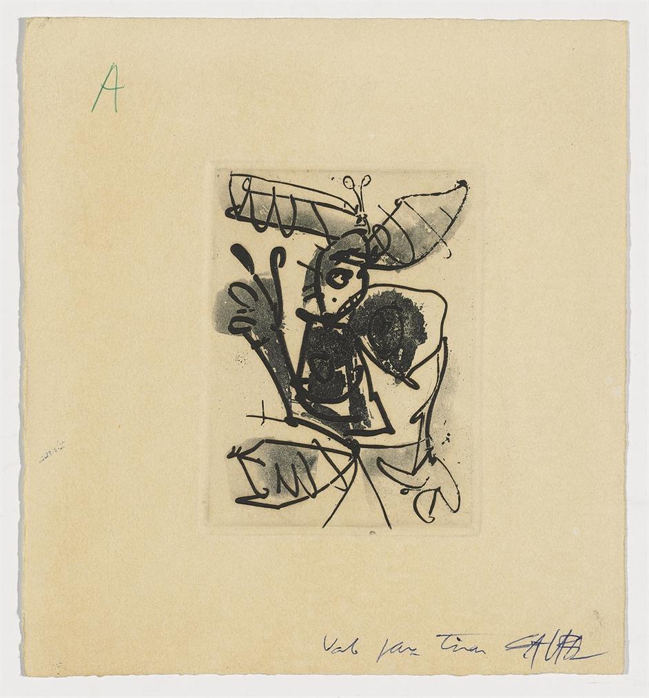 Antonio Saura-Petite Dame I, Ia, II-1968
