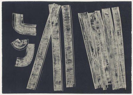 Hans Hartung-G 1970-18, 19, 20, 21 (Negative Versions)-1970