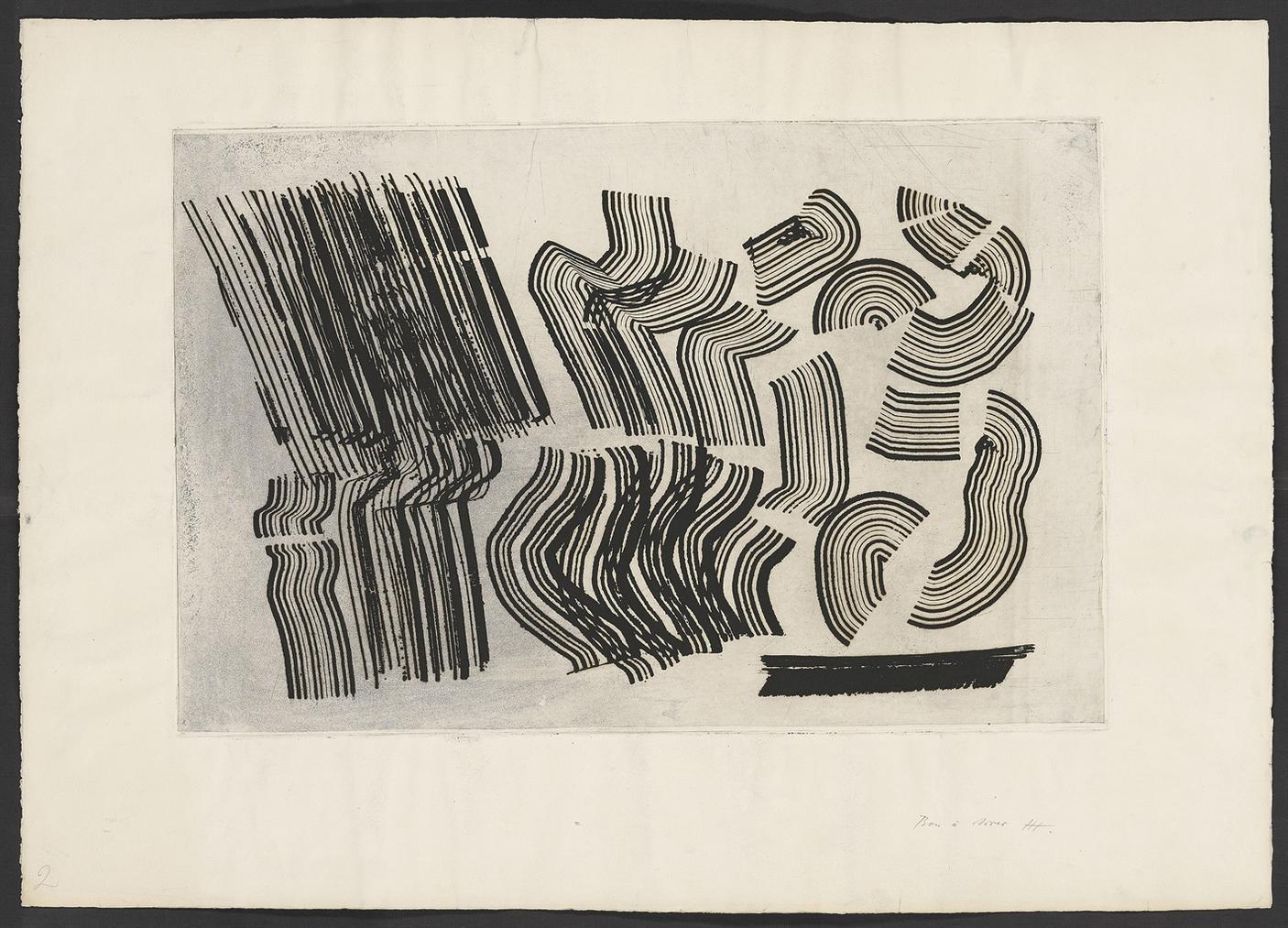 Hans Hartung-5 Aguafuertes-1971
