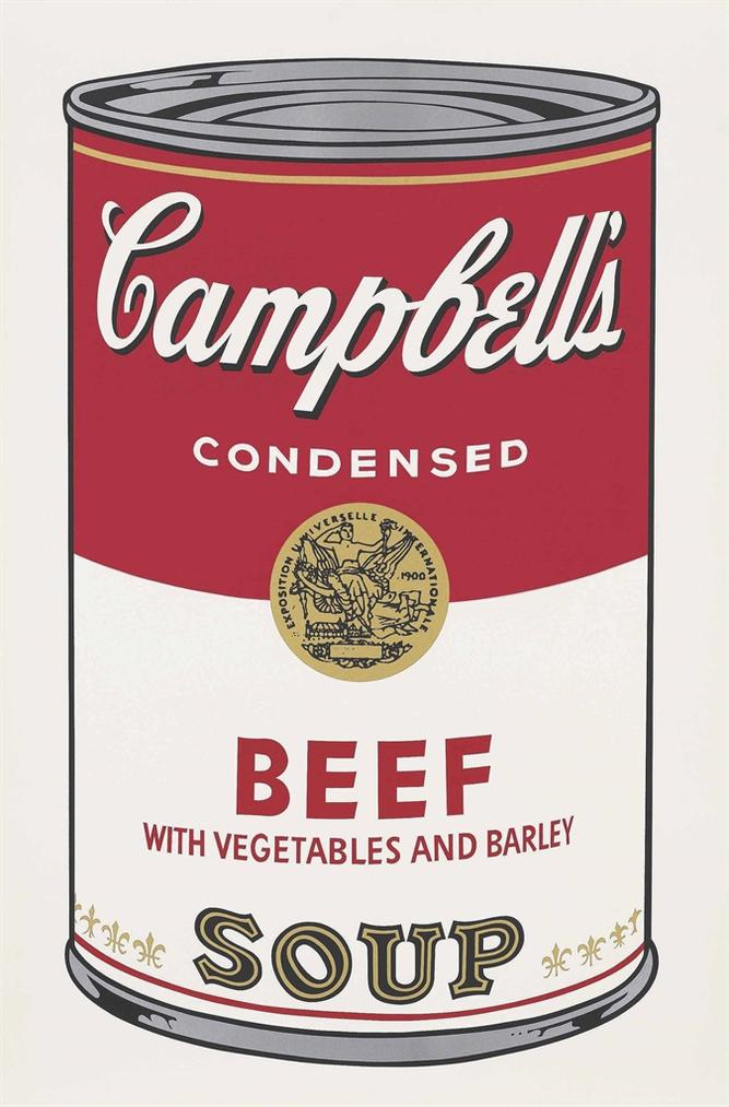 Andy Warhol-Beef With Vegetables And Barley, From: Campbells Soup I-1968