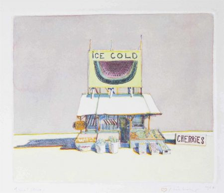 Wayne Thiebaud-Cherry Stand, From: Delights-1964