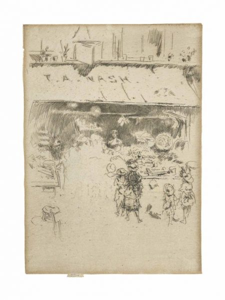 James Abbott McNeill Whistler-T. A. Nashs Greengrocers Shop-1887