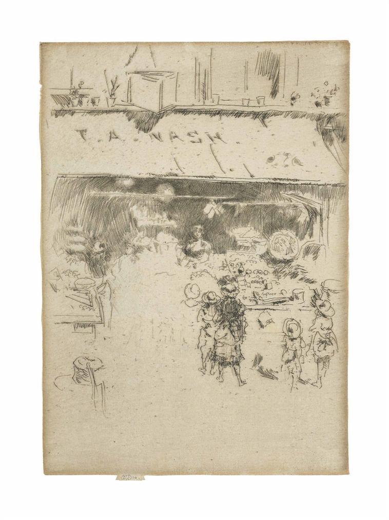 James Abbott McNeill Whistler-T. A. Nashs Greengrocers Shop-1887
