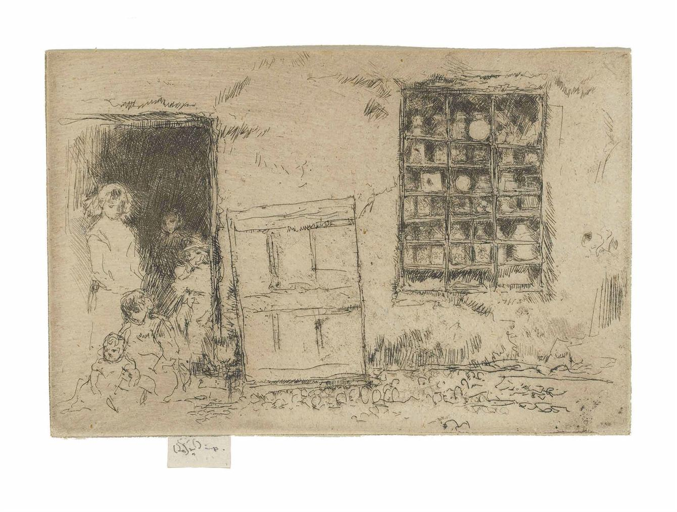 James Abbott McNeill Whistler-The Village Sweet Shop-1886