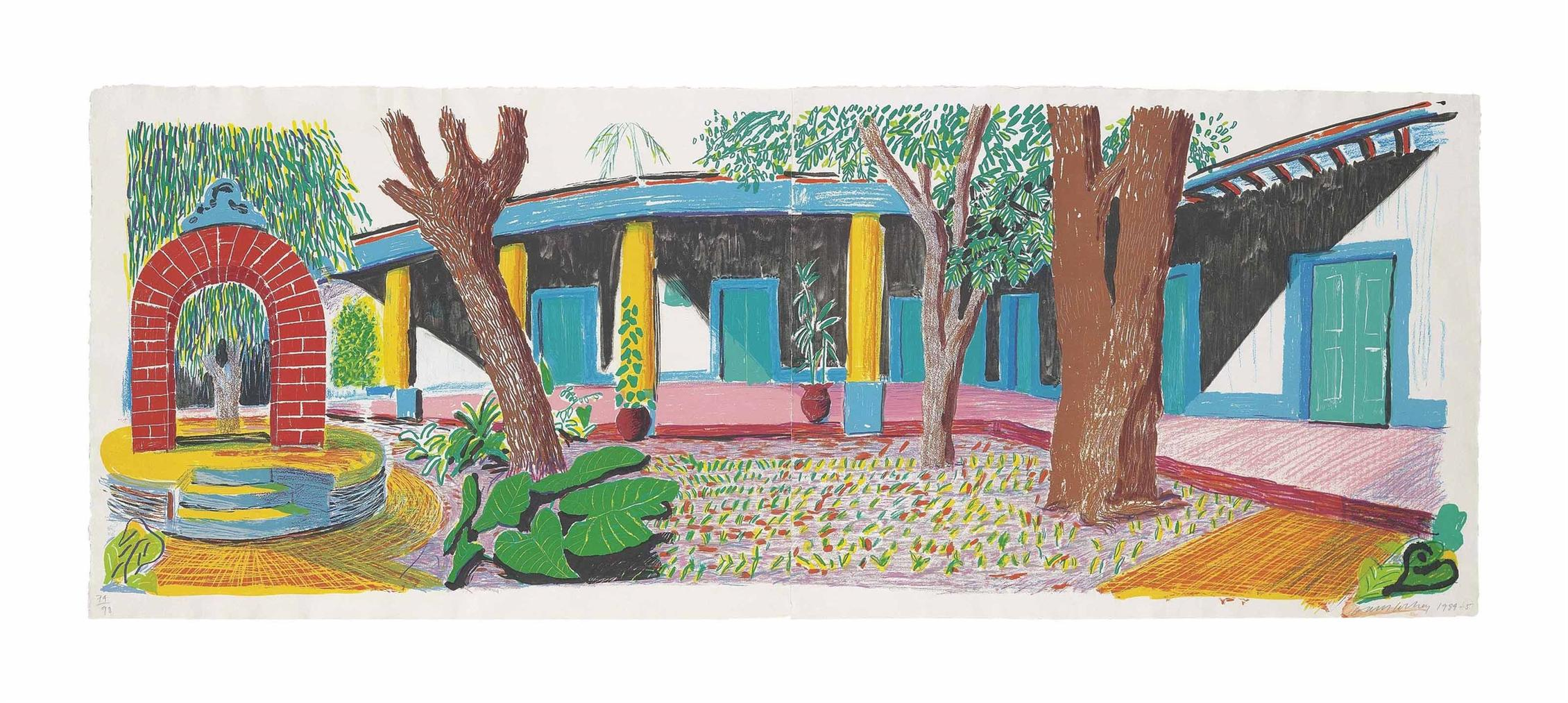 David Hockney-Hotel Acatlan: Second Day, From: The Moving Focus Series-1985