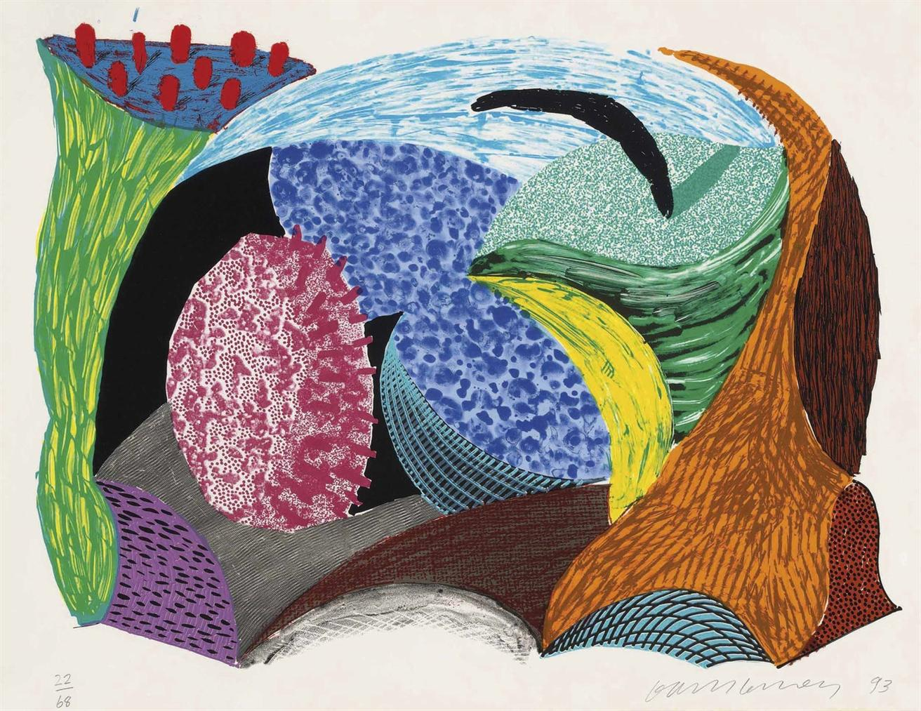 David Hockney-Going Out, From: Some New Prints-1993