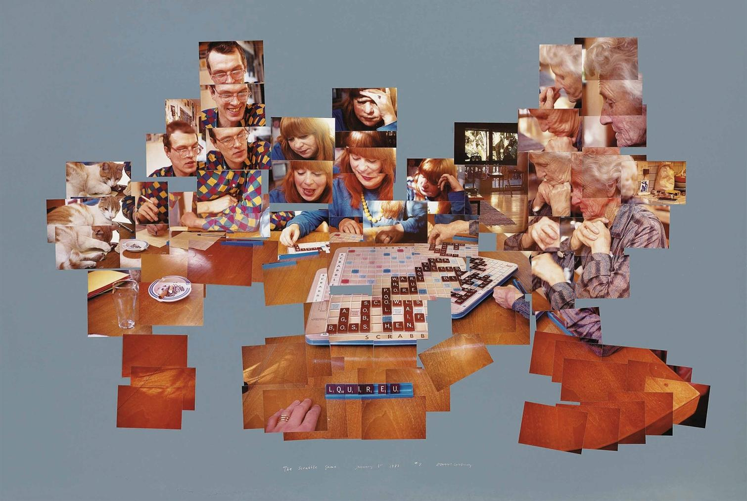 David Hockney-The Scrabble Game-1983