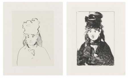 Edouard Manet-Berthe Morisot In Outline; Berthe Morisot in black (h. 73)-1874