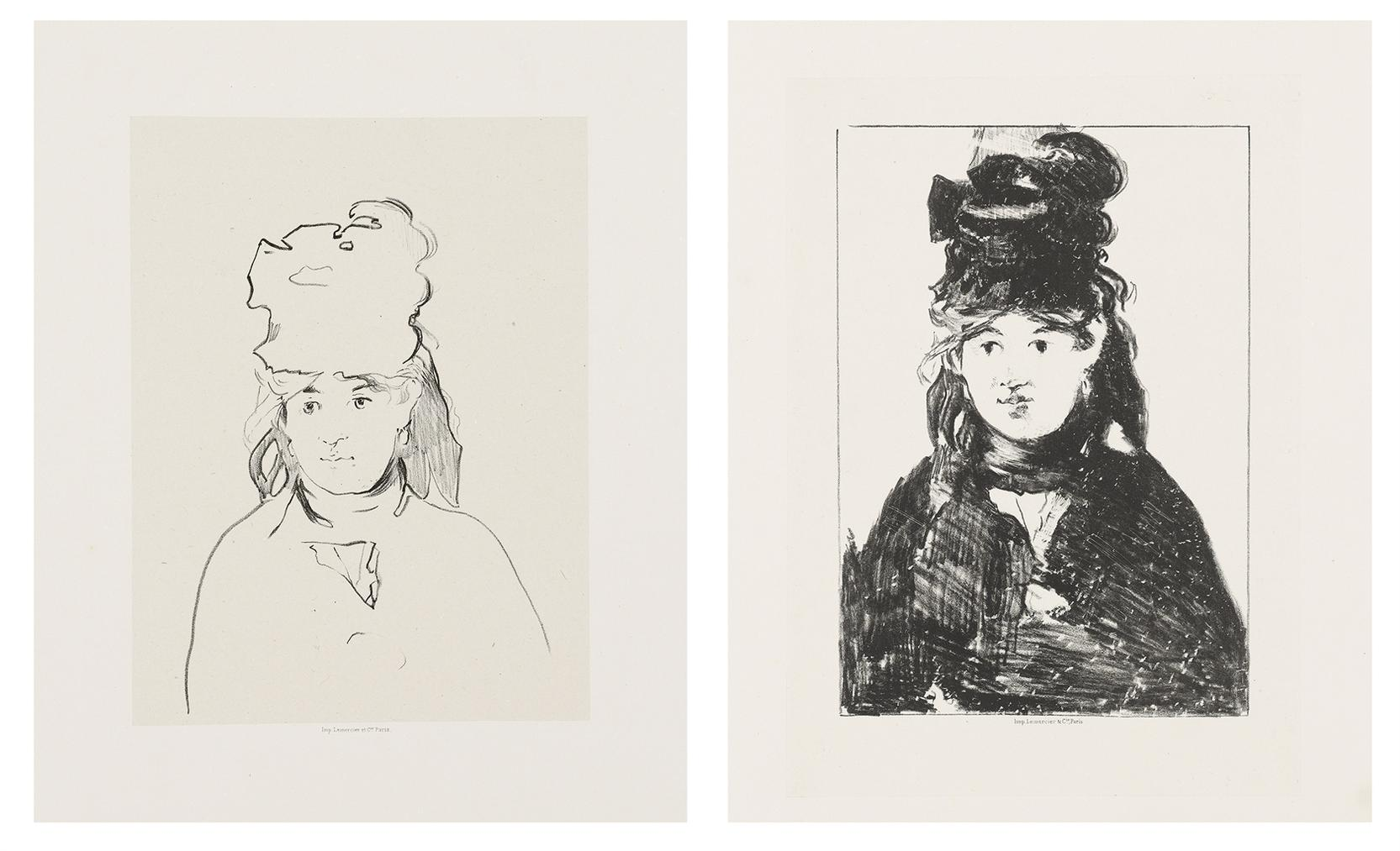 Edouard Manet-Berthe Morisot In Outline; Berthe Morisot in black (h. 73)-1874