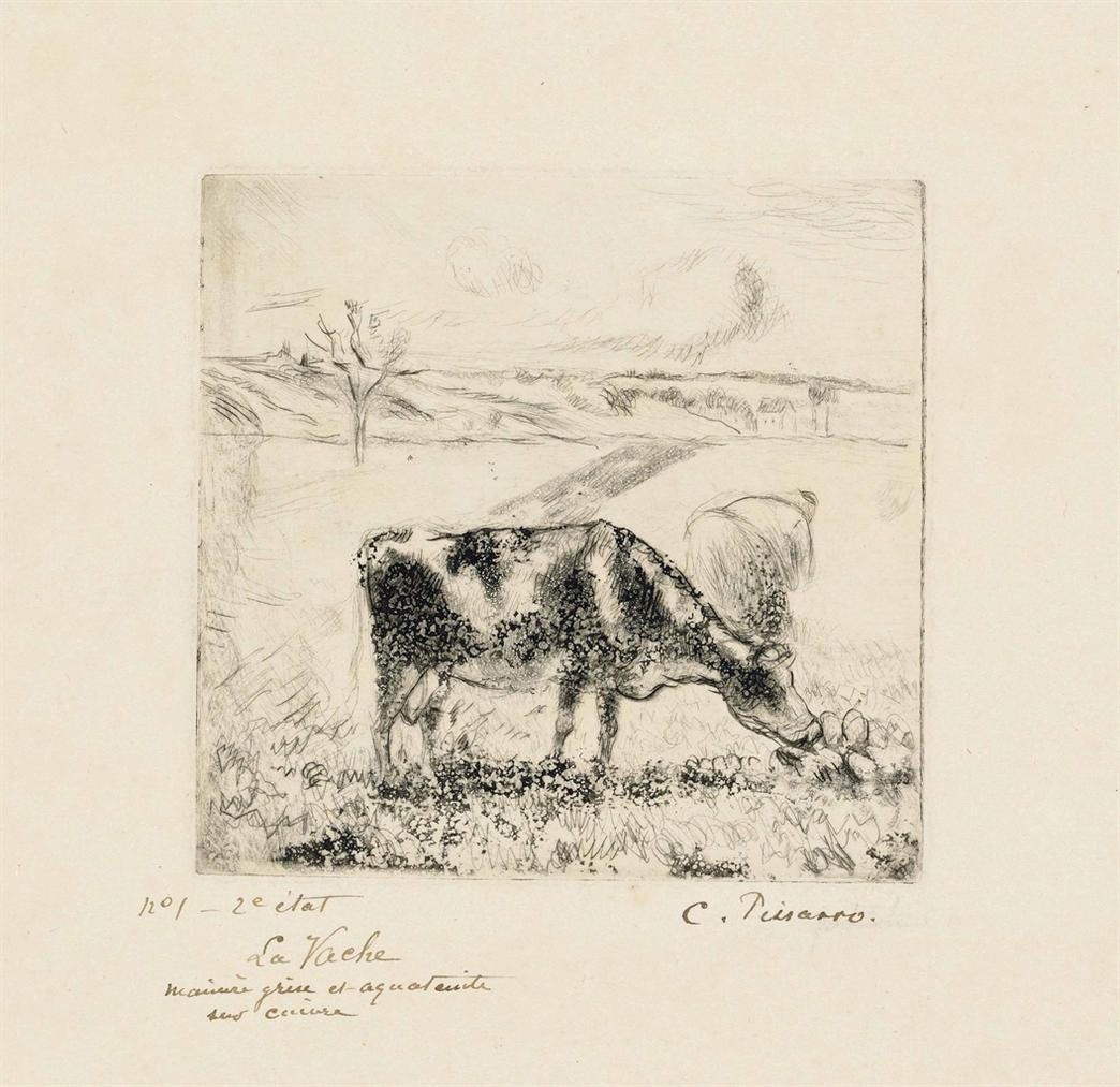 Camille Pissarro-La Vache-1885