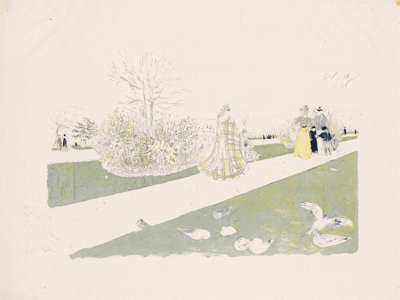 Edouard Vuillard-Le Jardin Des Tuileries-1896