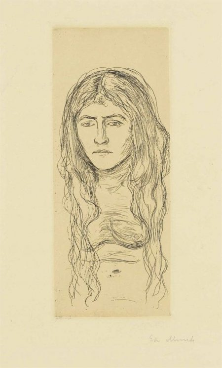 Edvard Munch-Woman With Long Hair-1896