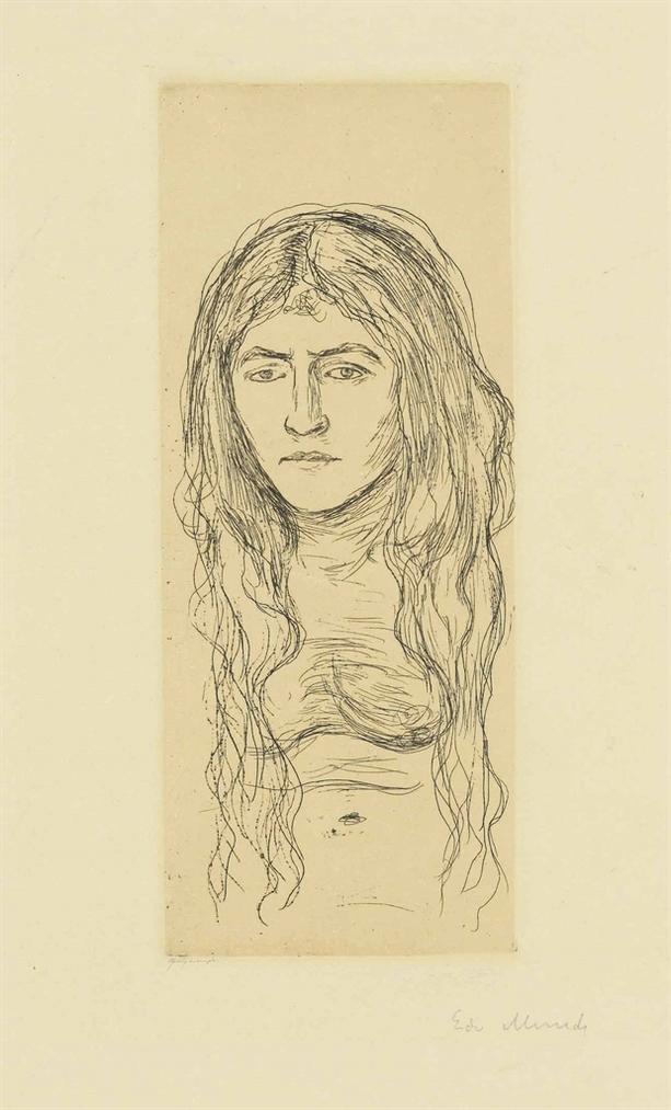 Edvard Munch-Woman With Long Hair-1896