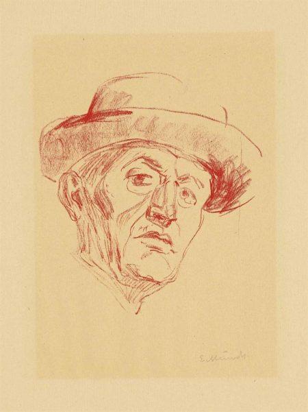 Edvard Munch-Self-Portrait With Hat I-1927