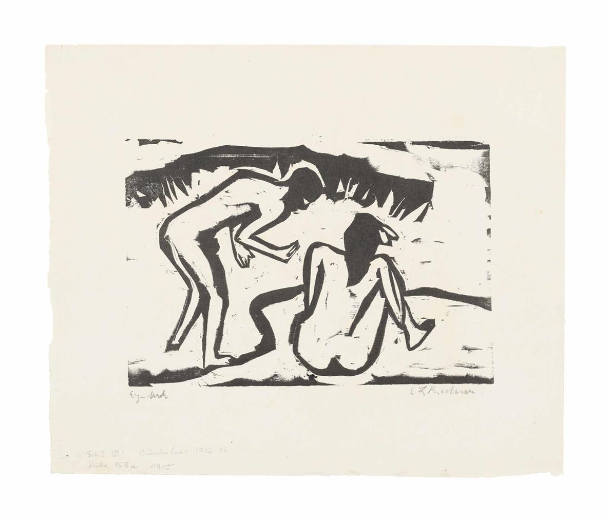 Ernst Ludwig Kirchner-Badendes Paar-1909