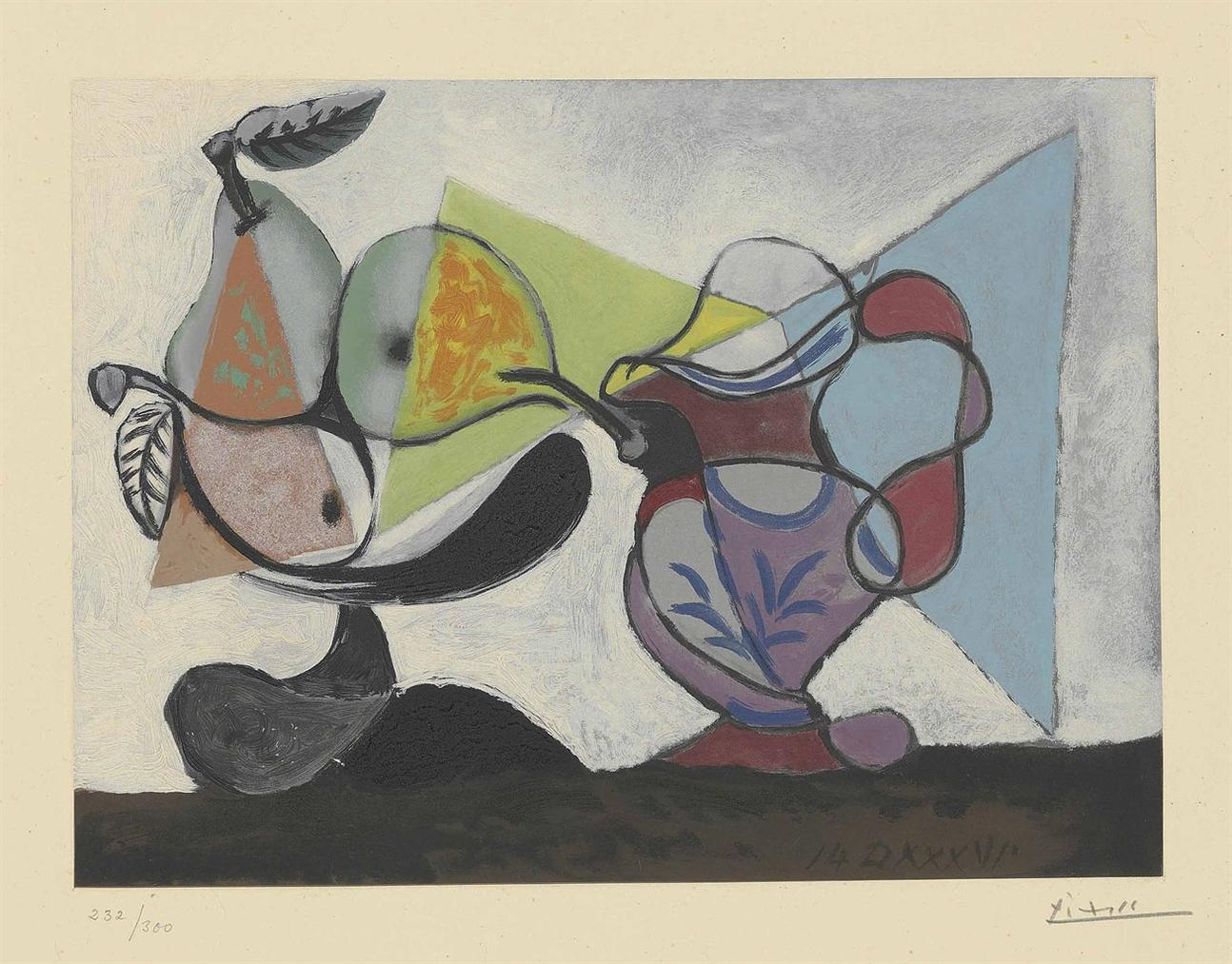 After Pablo Picasso - Nature Morte Aux Poires Et Au Pichet-1960